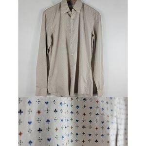 Prada Casino Print Button Down Dress Shirt